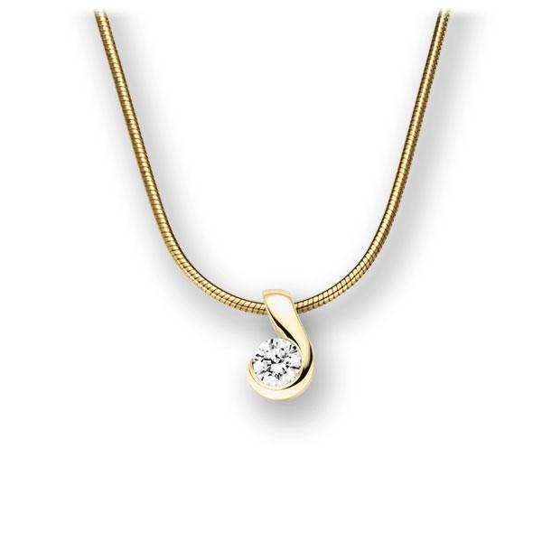 Diamant-Collier Gelbgold 585 mit 0,15 ct. tw, vs