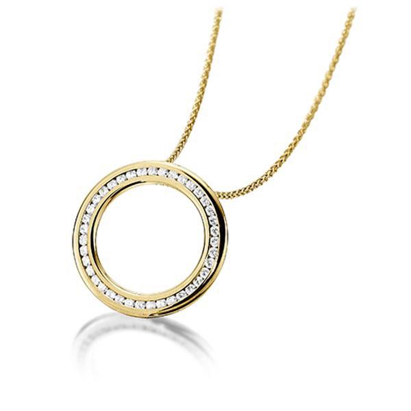 Diamant-Collier Gelbgold 585 mit 0,39 ct. tw, si