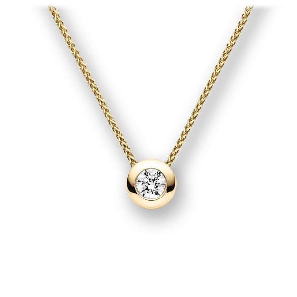 Diamant-Collier Gelbgold 585 mit 0,3 ct. G VS