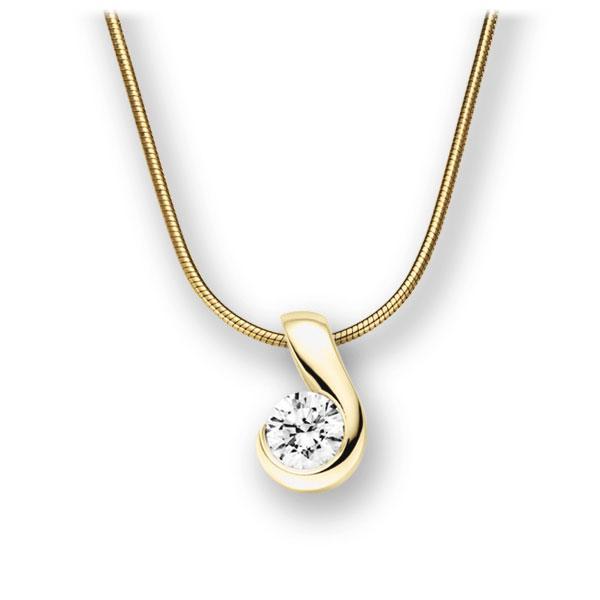 Diamant-Collier Gelbgold 585 mit 0,4 ct. G VS