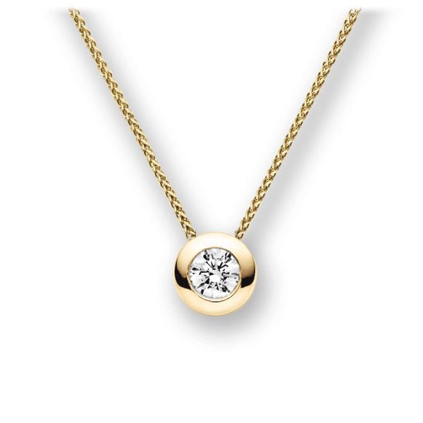 Diamant-Collier Gelbgold 585 mit 0,5 ct. G VS