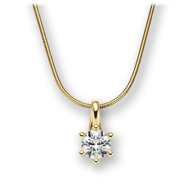 Diamant-Collier Gelbgold 585 mit 0,7 ct. G VS