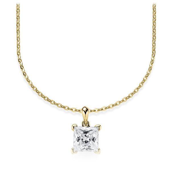 Diamant-Collier Gelbgold 585 mit 1 ct. tw, vs Steinberg - Individuals