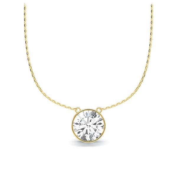 Diamant-Collier Gelbgold 585 mit 1 ct. tw, vs