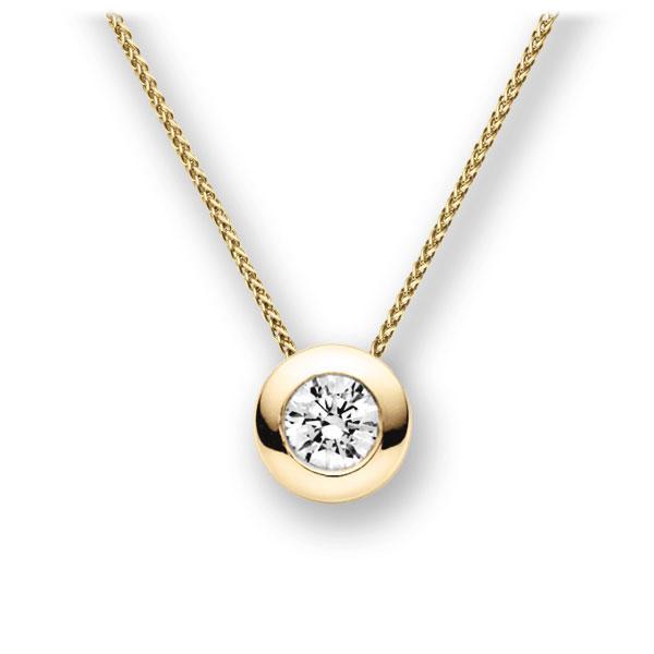 Diamant-Collier Gelbgold 585 mit 1 ct. G VS