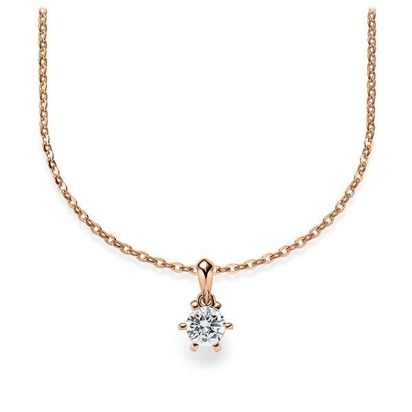 Diamant-Collier Rotgold 585 mit 0,25 ct. tw, vs