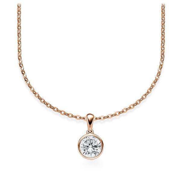 Diamant-Collier Rotgold 585 mit 0,5 ct. tw, vs