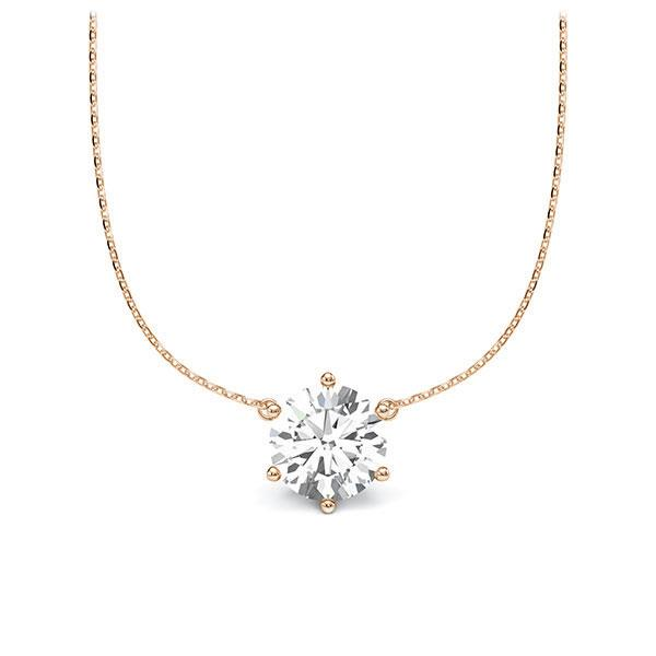 Diamant-Collier Rotgold 585 mit 1 ct. tw, vs Steinberg - Individuals