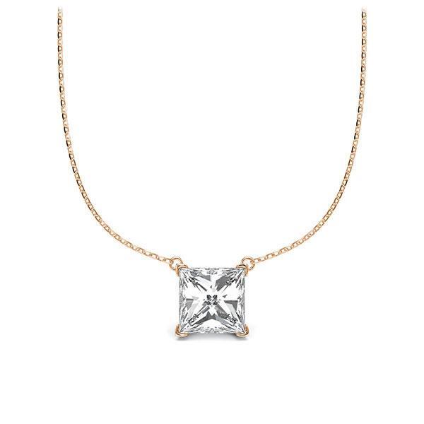 Diamant-Collier Rotgold 585 mit 1 ct. tw, vs
