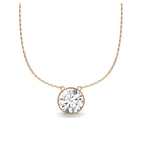 Diamant-Collier Rotgold 585 mit 1 ct. tw, vs