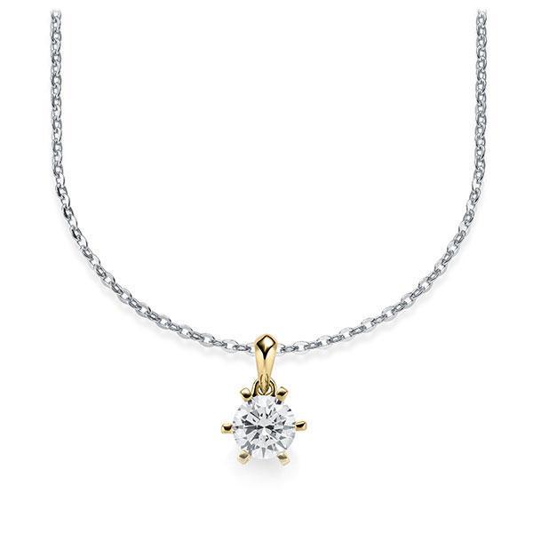 Diamant-Collier Weißgold 585 Gelbgold 585 mit 0,5 ct. tw, vs Steinberg - Individuals