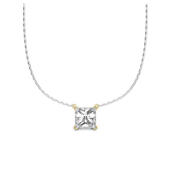 Diamant-Collier Weißgold 585 Gelbgold 585 mit 0,5 ct. tw, vs