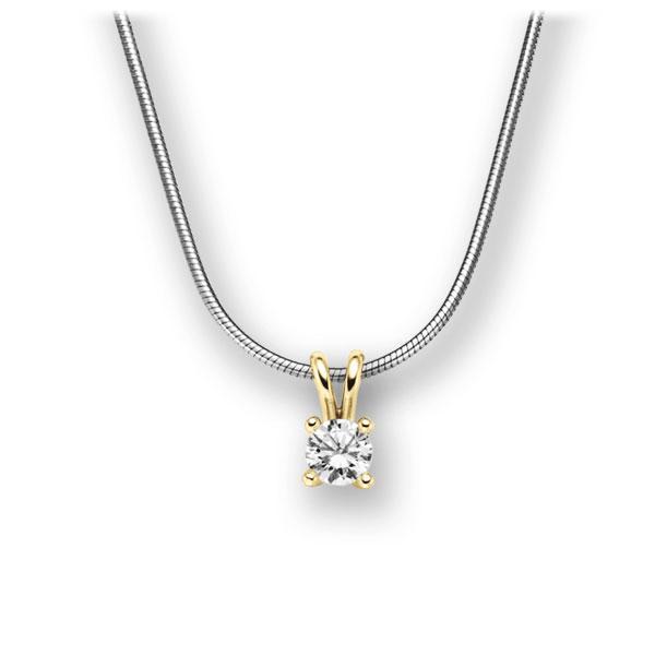 Diamant-Collier Weißgold 585 Gelbgold 585 mit 0,25 ct. tw, vs
