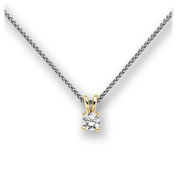 Diamant-Collier Weißgold 585 Gelbgold 585 mit 0,3 ct. G VS