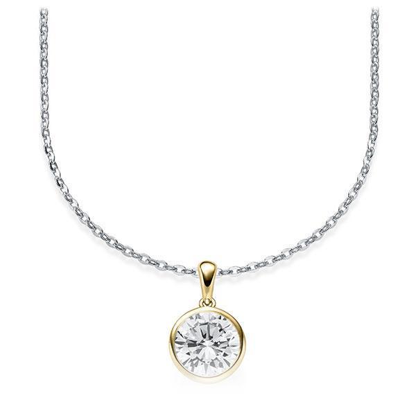 Diamant-Collier Weißgold 585 Gelbgold 585 mit 1 ct. tw, vs Steinberg - Individuals