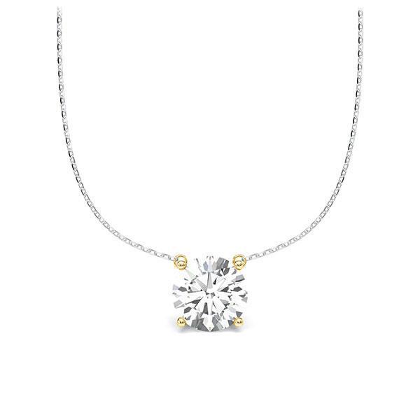 Diamant-Collier Weißgold 585 Gelbgold 585 mit 1 ct. tw, vs