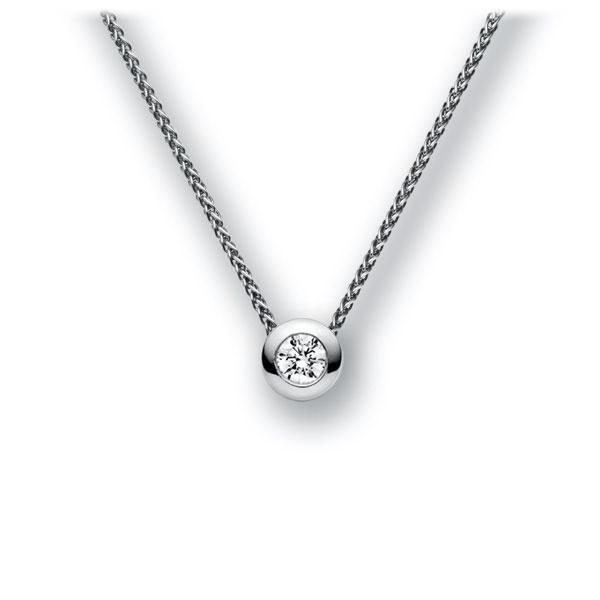 Diamant-Collier Weißgold 585 mit 0,15 ct. tw, vs