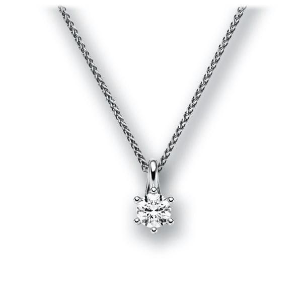 Diamant-Collier Weißgold 585 mit 0,25 ct. tw, vs