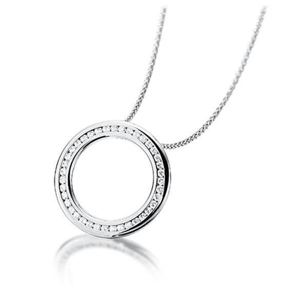 Diamant-Collier Weißgold 585 mit 0,39 ct. tw, si