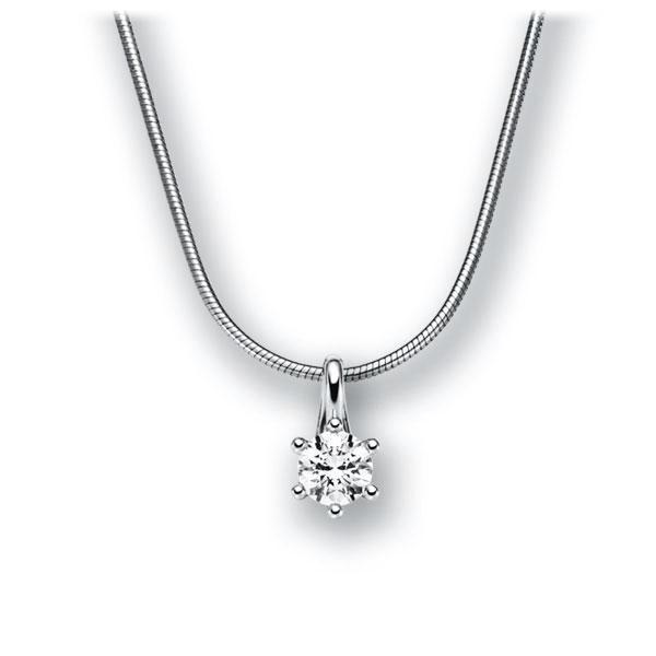 Diamant-Collier Weißgold 585 mit 0,3 ct. G VS