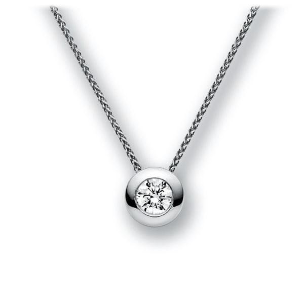 Diamant-Collier Weißgold 585 mit 0,4 ct. G VS