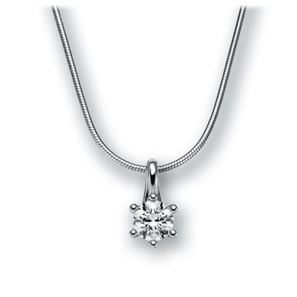 Diamant-Collier Weißgold 585 mit 0,5 ct. G VS