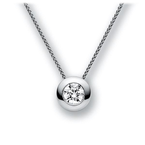 Diamant-Collier Weißgold 585 mit 0,7 ct. G VS
