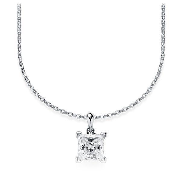 Diamant-Collier Weißgold 585 mit 1 ct. tw, vs