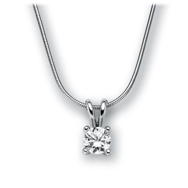 Diamant-Collier Weißgold 585 mit 1 ct. G VS