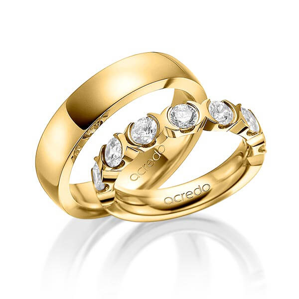 memoire ring gelbgold 585 a 1580 2 trauringe 123gold. Black Bedroom Furniture Sets. Home Design Ideas