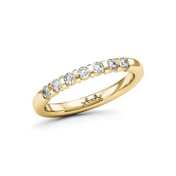 Memoire-Ring Gelbgold 585 mit 0,28 ct. tw, si