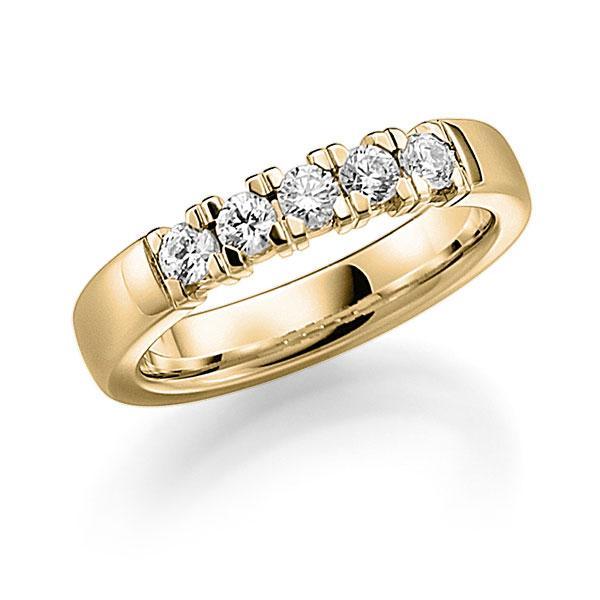 memoire ring gelbgold 585 mit 0 5 ct tw vs a 1111 9 trauringe 123gold. Black Bedroom Furniture Sets. Home Design Ideas