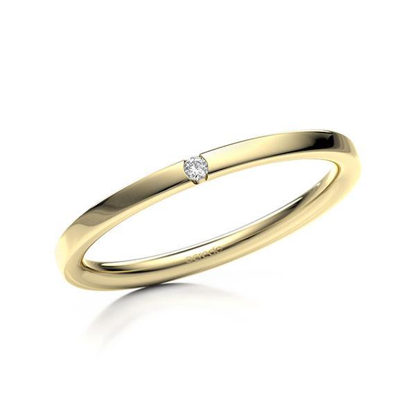 Memoire-Ring Gelbgold 585 mit 0,015 ct. tw, si