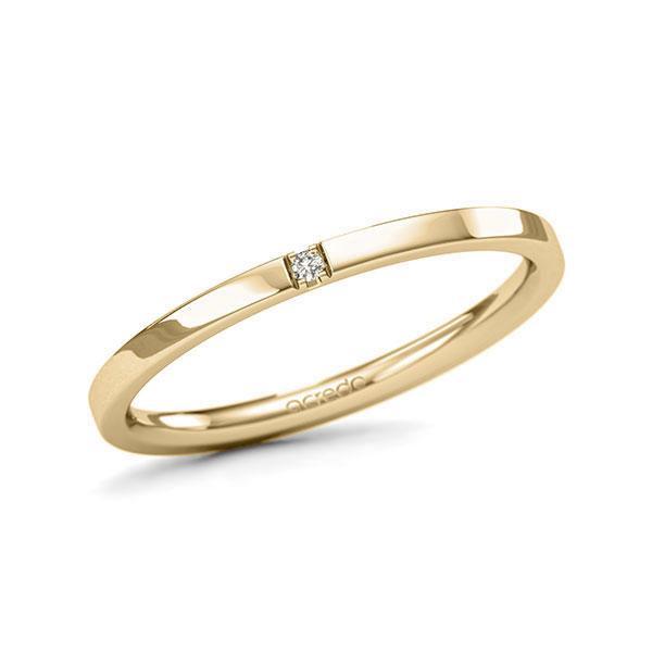 Memoire-Ring Gelbgold 585 mit 0,01 ct. tw, si