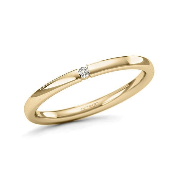 Memoire-Ring Gelbgold 585 mit 0,02 ct. tw, si