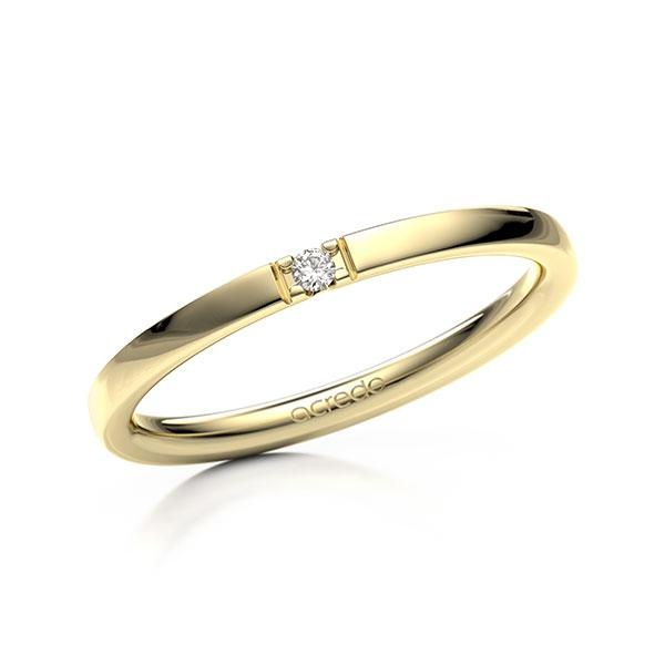 Memoire-Ring Gelbgold 585 mit 0,02 ct. tw, vs