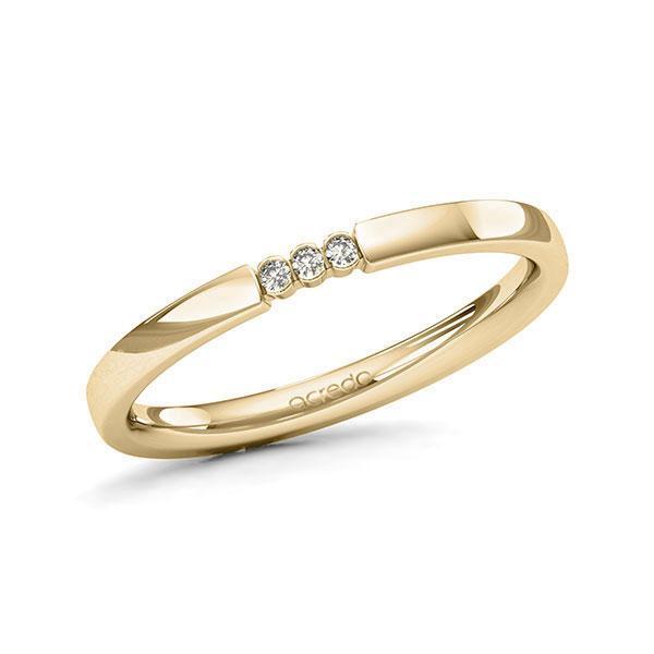 Memoire-Ring Gelbgold 585 mit 0,03 ct. tw, si