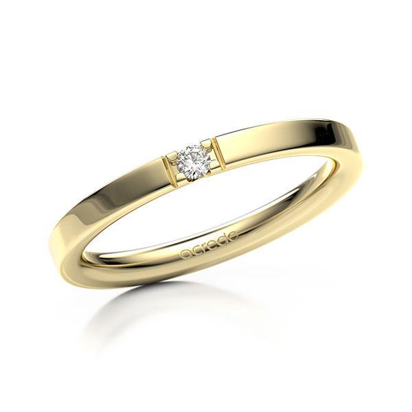 Memoire-Ring Gelbgold 585 mit 0,04 ct. tw, vs
