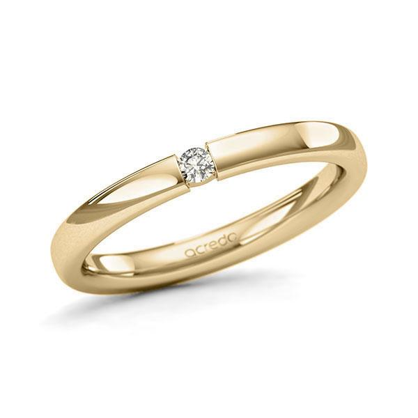 Memoire-Ring Gelbgold 585 mit 0,05 ct. tw, si