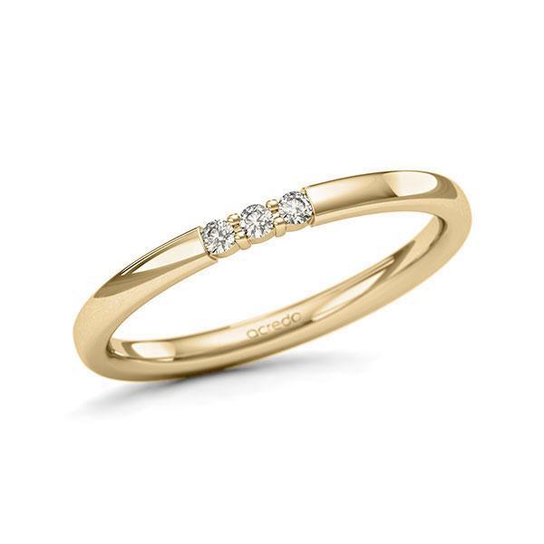 Memoire-Ring Gelbgold 585 mit 0,06 ct. tw, si