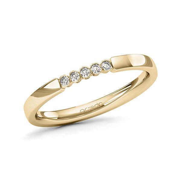 Memoire-Ring Gelbgold 585 mit 0,075 ct. tw, si