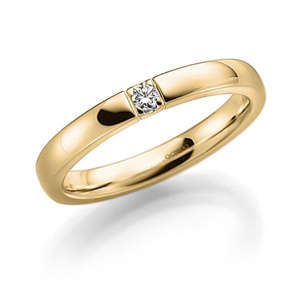 Memoire-Ring Gelbgold 585 mit 0,07 ct. tw, vs