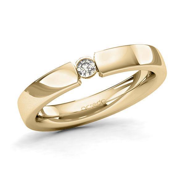 Memoire-Ring Gelbgold 585 mit 0,08 ct. tw, si