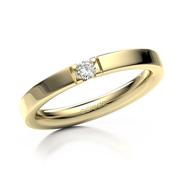 Memoire-Ring Gelbgold 585 mit 0,08 ct. tw, vs