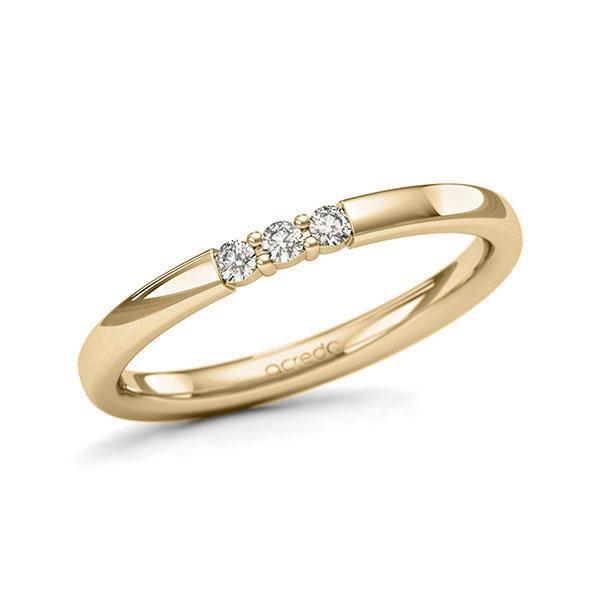 Memoire-Ring Gelbgold 585 mit 0,09 ct. tw, si
