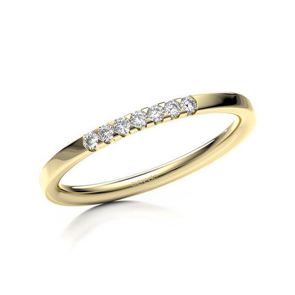 Memoire-Ring Gelbgold 585 mit 0,105 ct. tw, si