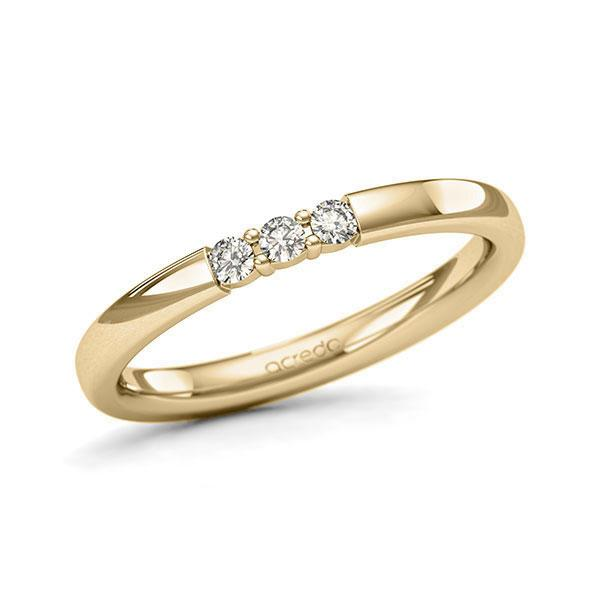 Memoire-Ring Gelbgold 585 mit 0,12 ct. tw, si