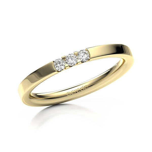 Memoire-Ring Gelbgold 585 mit 0,12 ct. tw, vs