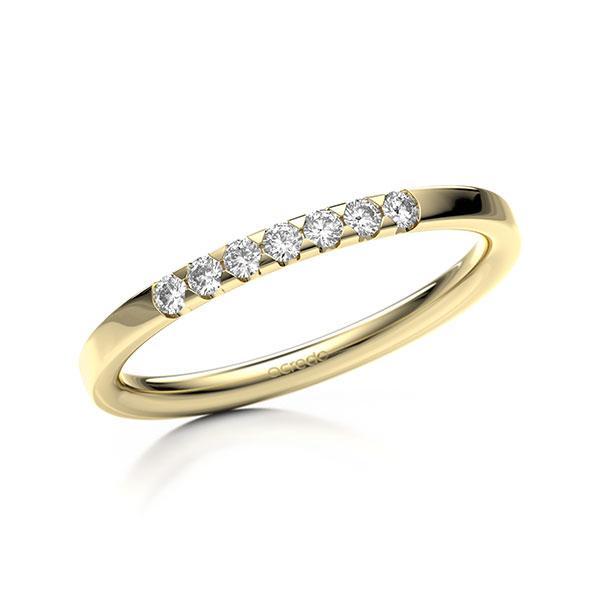 Memoire-Ring Gelbgold 585 mit 0,14 ct. tw, si