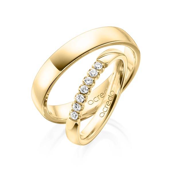 Memoire-Ring Gelbgold 585 mit 0,14 ct. tw, vs